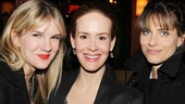 Sarah Paulson gets between two former co-stars, American Horror Story's Lily Rabe and Studio 60 on the Sunset Strip's Amanda Peet.