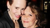 Sarah Paulson gets a warm greeting from Linda Lavin, whom she starred with in the 2010 two-hander Collected Stories.