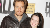 Theatrical couple Michael Shannon and Kate Arrington (who co-starred in Broadway's Grace) show off their hip opening night looks.