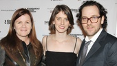 Picnic's Mare Winningham poses with playwright Amy Herzog and her husband, Roundabout resident director Sam Gold.