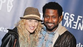 Hair stars Caissie Levy and Brandon Pearson attend the Songs for a New World benefit concert.