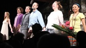 The company members of Vanya and Sonia and Masha and Spike survey the audience during curtain call.