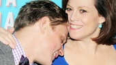 Sigourney Weaver gets an armful of her onstage boy toy, played by Billy Magnussen.