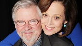 Longtime friends Christopher Durang and Sigourney Weaver share an intimate moment celebrating their latest collaboration.