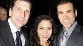 Broadway&#39;s Daphne Rubin-Vega gets between her husband Tommy Costanzo (l.) and cousin, producer Joseph Aldo.