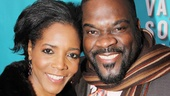 Tony nominee Phillip Boykin shows off his lovely wife Felicia.
