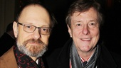 David Hyde Pierce celebrates his triumphant opening with husband, Brian Hargrove.