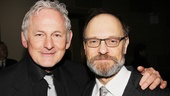 Frequent first-nighter Victor Garber puts an arm around Vanya star David Hyde Pierce.
