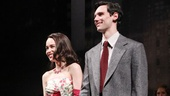 Emilia Clarke and Cory Michael Smith share a bow on opening night of Breakfast at Tiffany's.