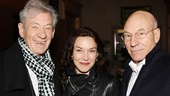 Acting legends Ian McKellen and Patrick Stewart are joined by Stewart's fiancée Sunny Ozell. Fun fact: McKellen will officiate their wedding!