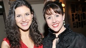 Leading ladies Jenny Powers and Alli Mauzey get together for a closing night photo.
