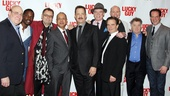 Meet the men of Lucky Guy: Richard Masur, Stephen Tyrone Williams, Brian Dykstra, director George C. Wolfe, Tom Hanks, Christopher McDonald, Peter Scolari, Michael Gaston, Peter Gerety and Danny Mastrogiorgio.