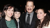 Tom Hanks and Maura Tierney steal some time with Alice McAlary and her youngest son, Quinn.