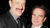 Tom Hanks reunites with his Bosom Buddies co-star Peter Scolari, who also stars in Lucky Guy.