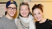 The Heiress meets the Royals: Cinderella stars Santino Fontana and Laura Osnes bookend two-time Tony winner Cherry Jones.