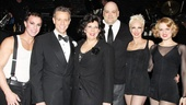 Ryan Lowe, Adam Pascal, Christine Pedi, Raymond Bokour, Amra-Faye Wright & Amy Spanger line up for a parting shot. See Chicago at the Ambassador Theatre!