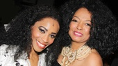 Valisia LeKae finally gets the chance to meet the legendary Diana Ross. (Their first encounter was on stage during curtain call!)