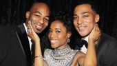 …and here are the three who play them in Motown! Brandon Victor Dixon, Valisia LeKae and Charl Brown sure clean up well!