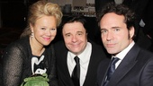 Nathan Lane enjoys the opening night party with pals Caroline Rhea and Jason Patric.