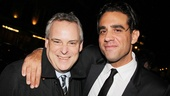 Bobby Cannavale throws a congratulatory arm around his director, Doug Hughes.
