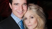 Jake Silbermann gets a Broadway debut hug from co-star Judith Light.