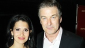 Alec Baldwin comes in close for a photo with his wife, Hilaria Thomas.