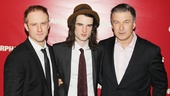 A parting shot of the men of Broadway's Orphans: Ben Foster, Tom Sturridge and Alec Baldwin.