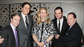 Nederlander Organization execs welcome Constantine Maroulis to their theater. From left: Rick Sweezy, Nick Scandalios, Margo McNabb, Constantine Maroulis and James L. Nederlander.
