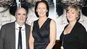 Playwright Colm Toibin joins his leading lady and director Deborah Warner for a photo.