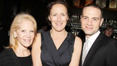 Producer Daryl Roth and Jujamcyn Theaters President Jordan Roth flank star headliner Fiona Shaw.