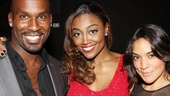 Patina Miller's pals Alan Green and Jene Hernandez are on hand to see her big opening night and her wedding proposal!