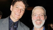 Pippin's Terrence Mann (r., a three-time nominee) welcomes newbie featured actor Gabriel Ebert to the club!