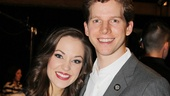 Laura Osnes and Stark Sands (who co-starred in Bonnie &amp; Clyde in La Jolla) look absolutely angelic at the press luncheon.