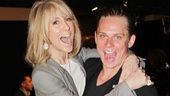 Vanya and Sonia and Masha and Spike nominee Billy Magnussen gives a lift to Tony winner Judith Light!