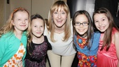 Matilda's Lauren Ward gets right in the middle of the four little leading ladies (Milly Shapiro, Sophia Gennusa, Oona Laurence and Bailey Ryon), who will receive a special Tony Award for playing the title role.