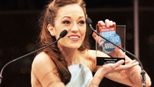 Laura Osnes looks gorgeous while accepting the award for Favorite Actress in a Musicalfor the second consecutive year! She won in 2012 for Bonnie &amp; Clyde.