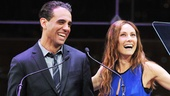 Bobby Cannavale and Laura Benanti joke around about their Italian names before getting down to business. Who is musical theaters biggest queen? Benanti asked before handing out the award for Favorite Actor in a Musical.