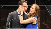 Laura Benanti and Bobby Cannavale get handsy as they prepare to announce the final award of the evening for Favorite Musical. While on the topic, Cannavale valiantly declared, I would dance the shit out of Fosse!