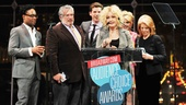 And the winner for Favorite Musical isKinky Boots! Cyndi Lauper joins Harvey Fierstein, Billy Porter, Stark Sands, Annaleigh Ashford and producer Daryl Roth in accepting the top honor!