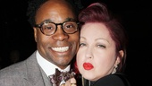 Kinky Boots headliner Billy Porter and composer/lyricist Cyndi Lauper wouldnt miss this big evening for Kinky&#39;s director/choreographer Jerry Mitchell.