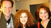 """I've met Bernadette Peters [with cast members Danny Mastrogiorgio and Deirdre Lovejoy] before, and she is one of my favorites. She's so sweet. I said to her, 'When are we gonna see you on Broadway again?'"""