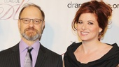 Drama League President Jano Herbosch looks divine on the red carpet alongside this year's hosts, David Hyde Pierce and Emmy winner Debra Messing.