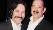 Mustachioed movie stars Paul Rudd (Grace) and Tom Hanks (Lucky Guy) show off their ferocious facial hair!