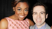 Pippin star Patina Miller wraps an arm around the always delightful Rob McClure (Chaplin).
