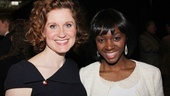 Chaplin's Christiane Noll and Motown standout Saycon Sengbloh take in the scene at the Marriot Marquis.