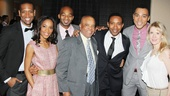 Meet the Motown family: Bryan Terrell Clark, Valisia LeKae, Brandon Victor Dixon, Motown legend Berry Gordy, director Charles Randolph-Wright, Charl Brown and co-choreographer Patricia Wilcox.