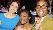 Passion's Judy Kuhn chats on the stage with fellow nominees Pippin's Patina Miller and Kinky Boots star Billy Porter.