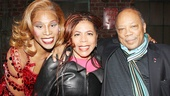 Pop star Valerie Simpson is also in the house, and shares a snapshot with Billy Porter and Quincy Jones.