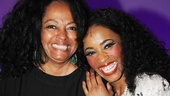 She's back! Diana Ross shares a moment with the Tony nominee who plays her in Motown, Valisia LeKae.