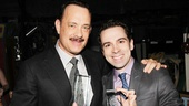 Lucky Guy's Tom Hanks and Chaplin's Rob McClure show off their Theatre World Awards. Congrats, gentlemen!